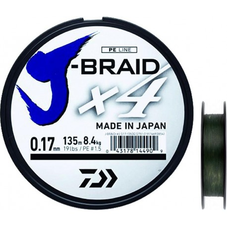 TRESSE JBRAID 4B 150M MULTICOLORE