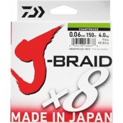 TRESSE JBRAID 8B 150M CHARTREUSE